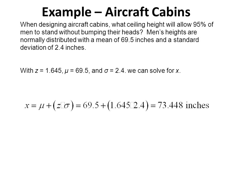 Example – Aircraft Cabins