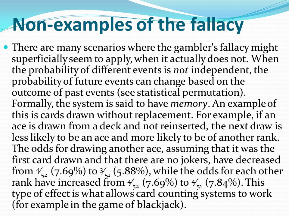 Non-examples of the fallacy