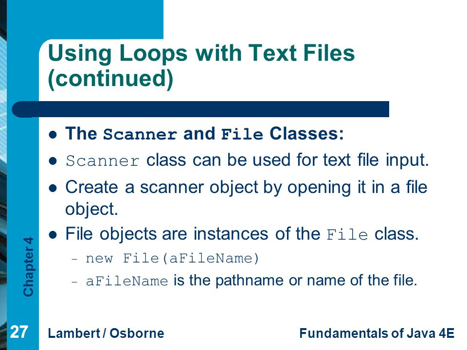 Using Loops with Text Files (continued)