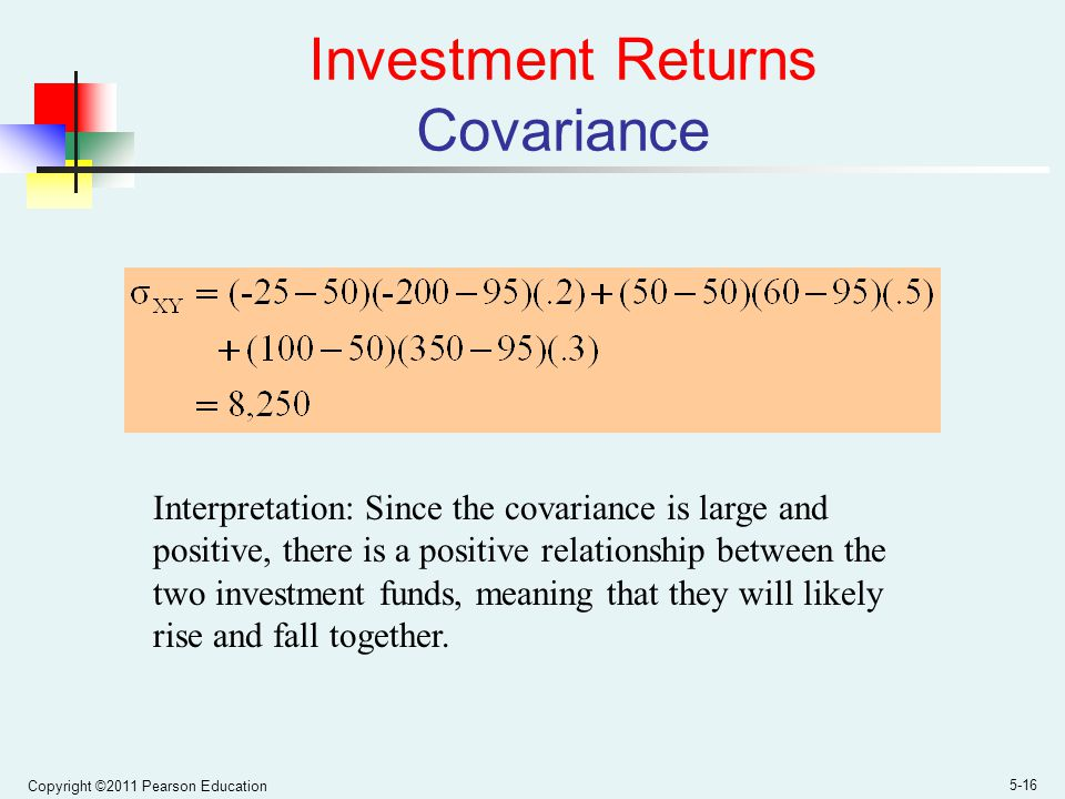 Investment Returns Covariance