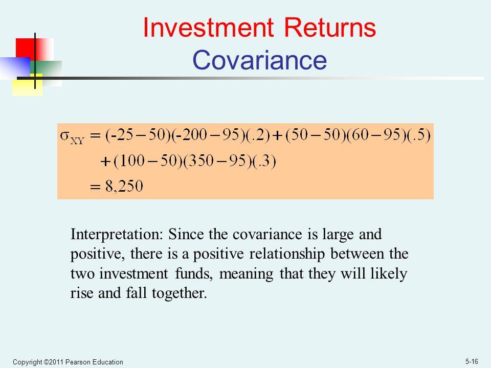 Investment Returns Covariance