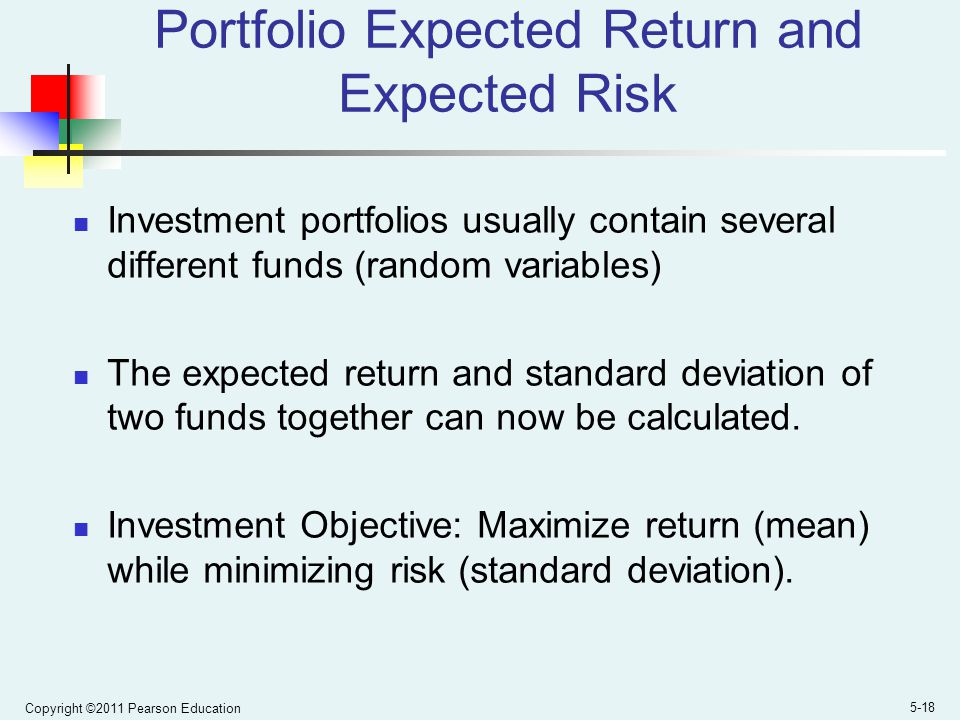Portfolio Expected Return and Expected Risk