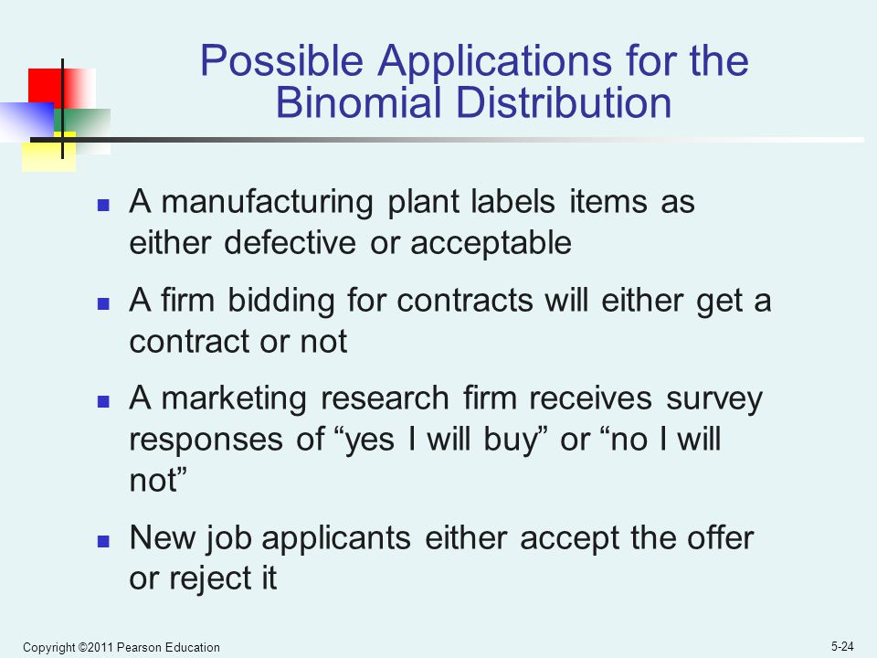 Possible Applications for the Binomial Distribution