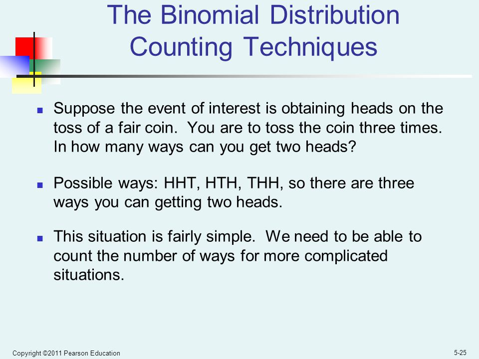 The Binomial Distribution Counting Techniques