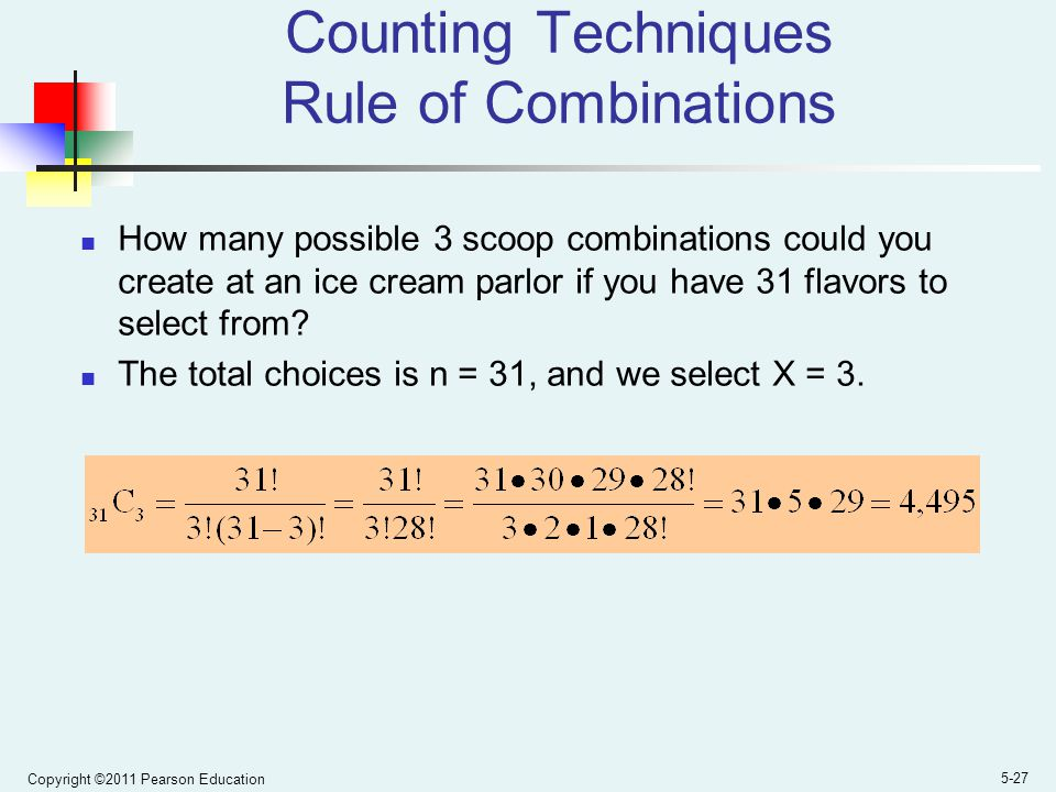Counting Techniques Rule of Combinations