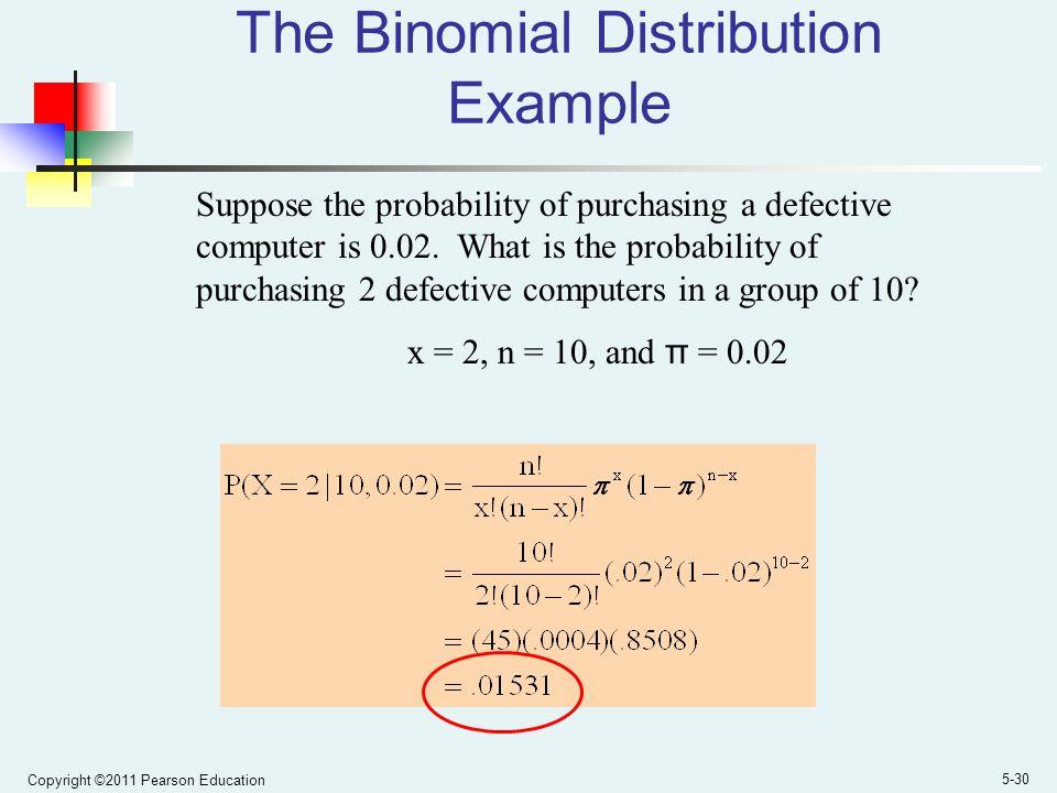 The Binomial Distribution Example