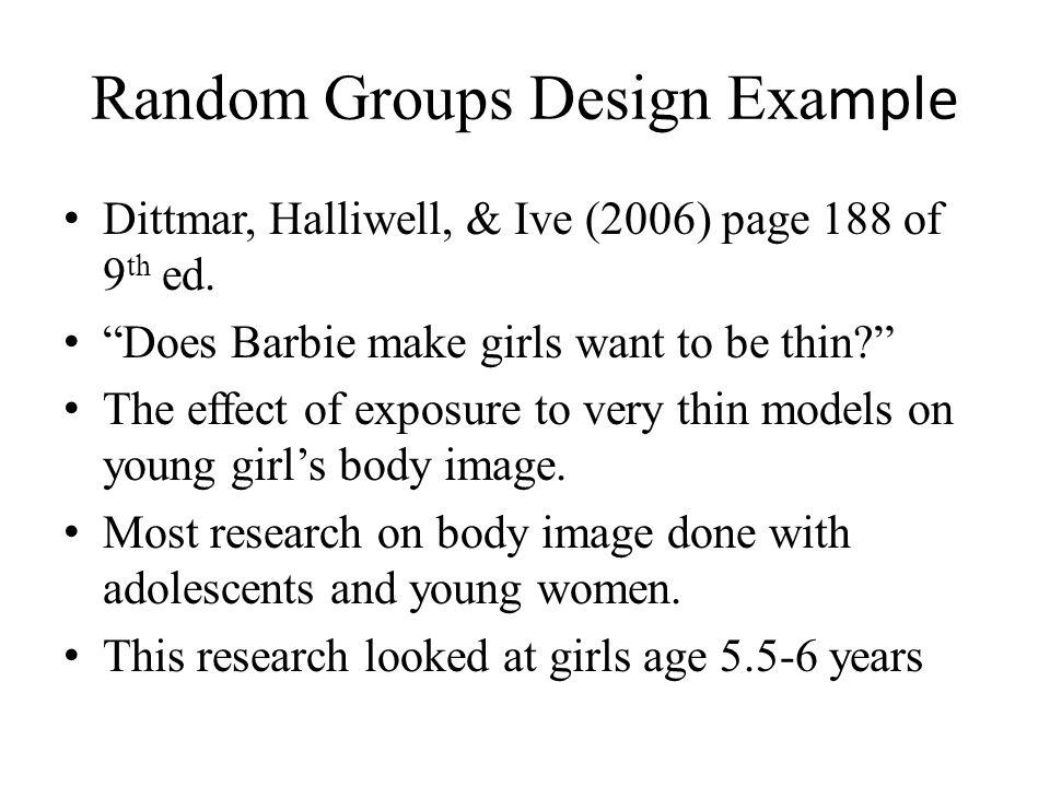 Random Groups Design Example