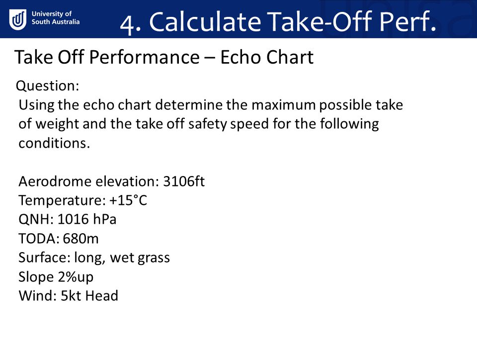4. Calculate Take-Off Perf.