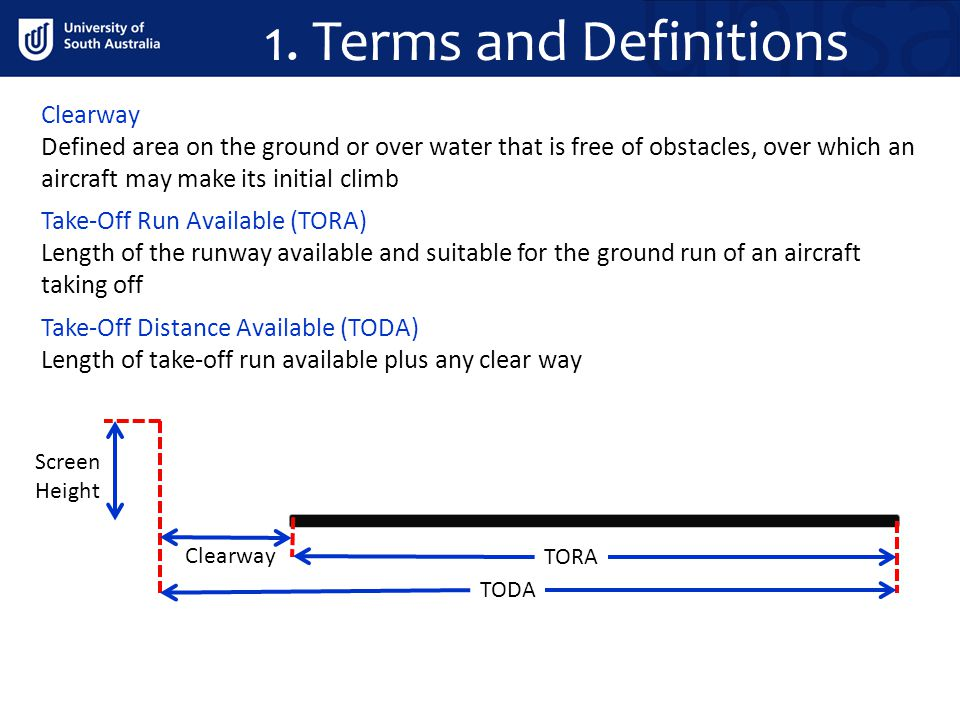 1. Terms and Definitions Clearway