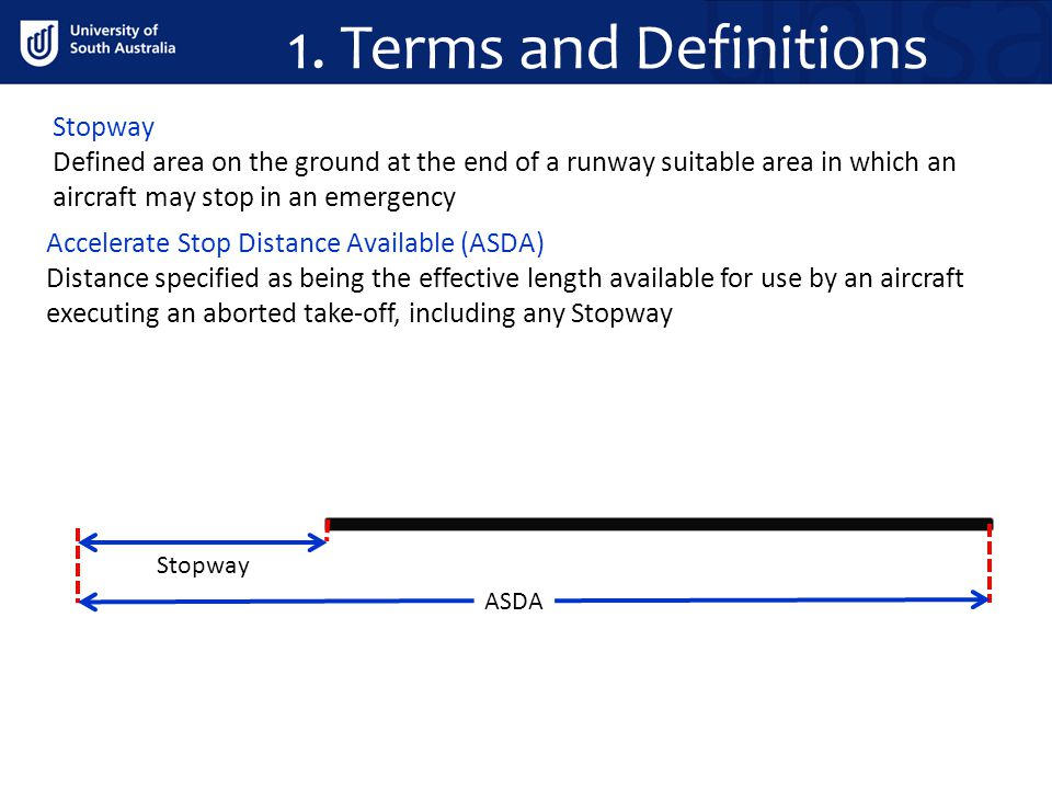 1. Terms and Definitions Stopway