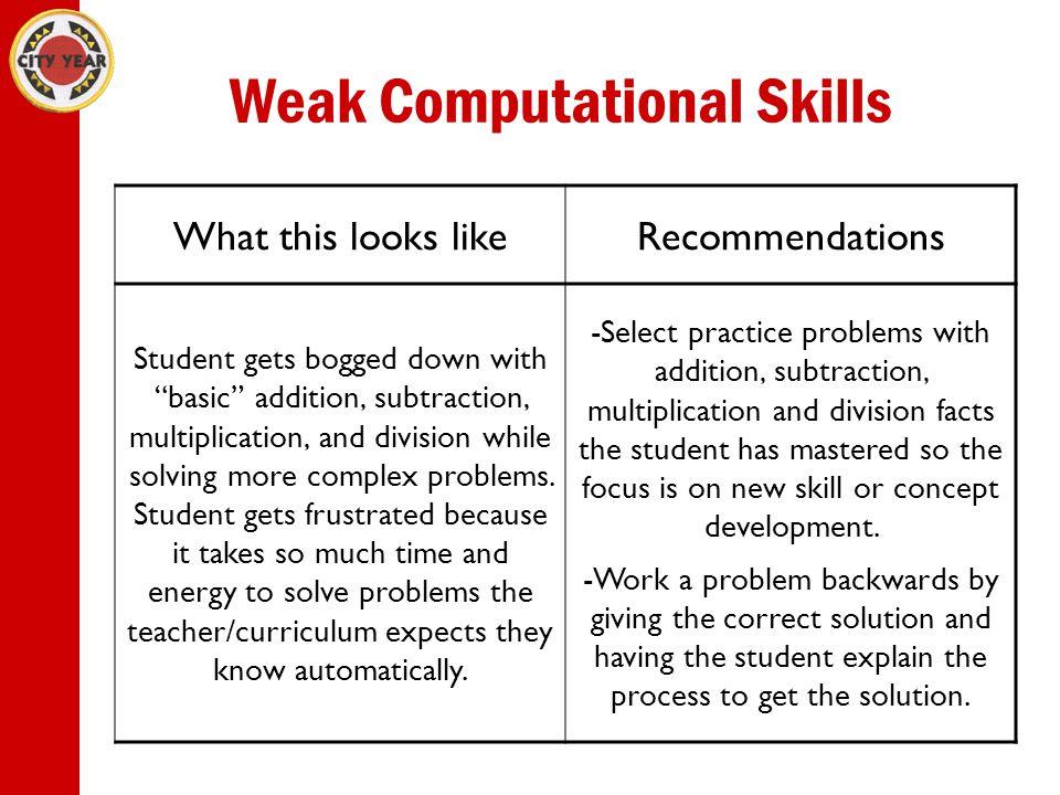 Weak Computational Skills