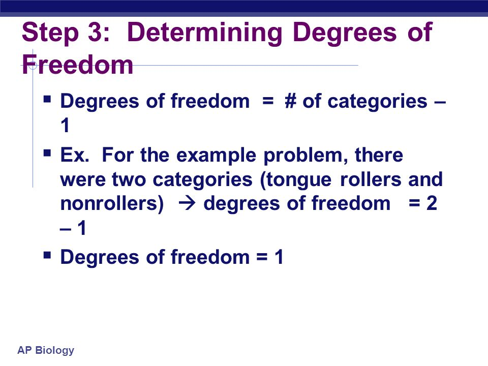 Step 3: Determining Degrees of Freedom