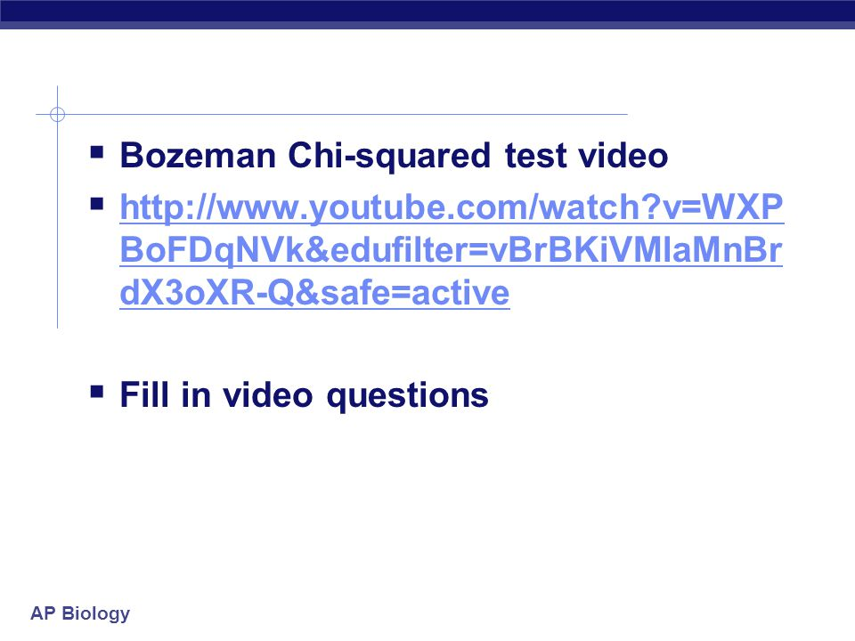 Bozeman Chi-squared test video