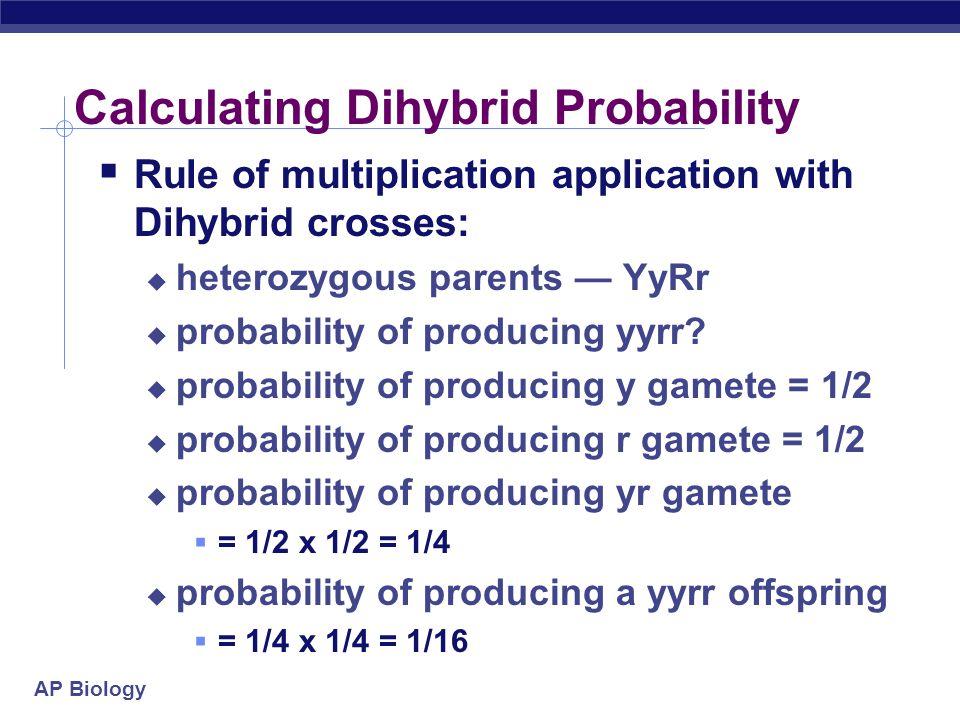 Calculating Dihybrid Probability