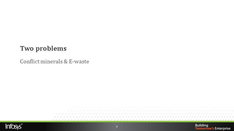 Conflict minerals & E-waste
