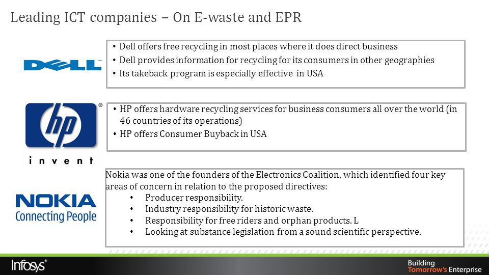 Leading ICT companies – On E-waste and EPR