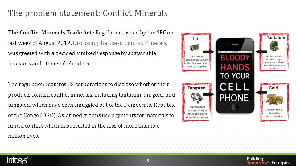 The problem statement: Conflict Minerals