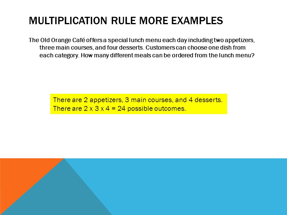 Multiplication Rule More Examples