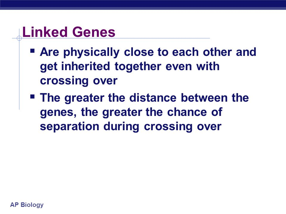 Linked Genes Are physically close to each other and get inherited together even with crossing over.
