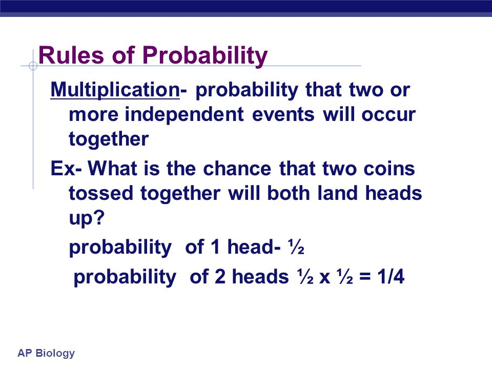 Rules of Probability