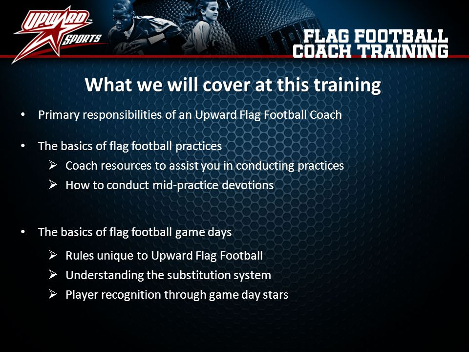 What we will cover at this training