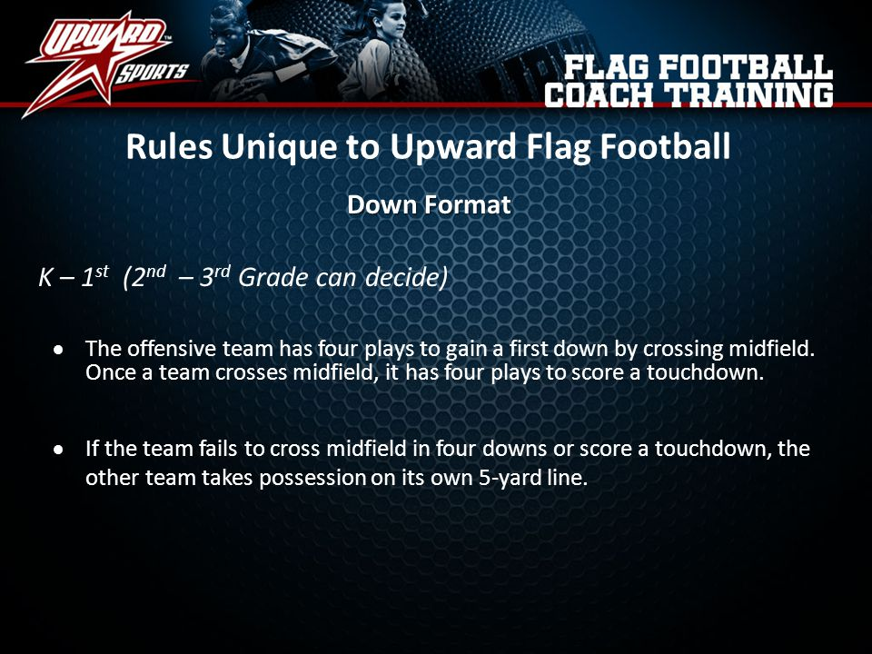Rules Unique to Upward Flag Football