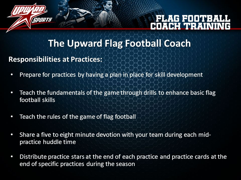 The Upward Flag Football Coach