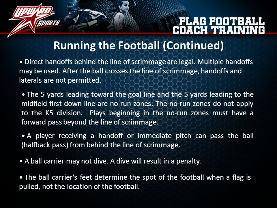 Running the Football (Continued)