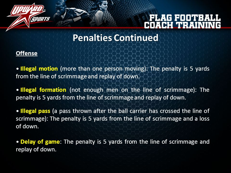 Penalties Continued Offense