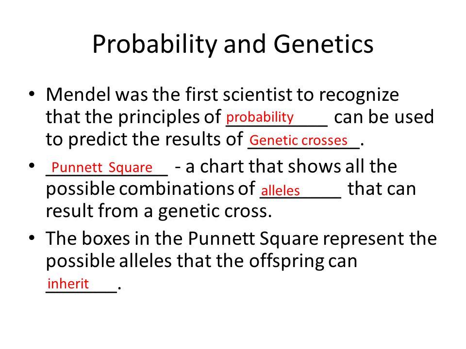 Probability and Genetics