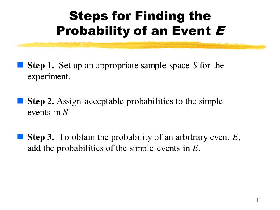 Steps for Finding the Probability of an Event E