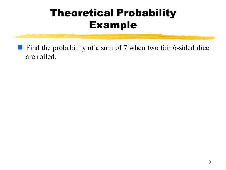 Theoretical Probability Example