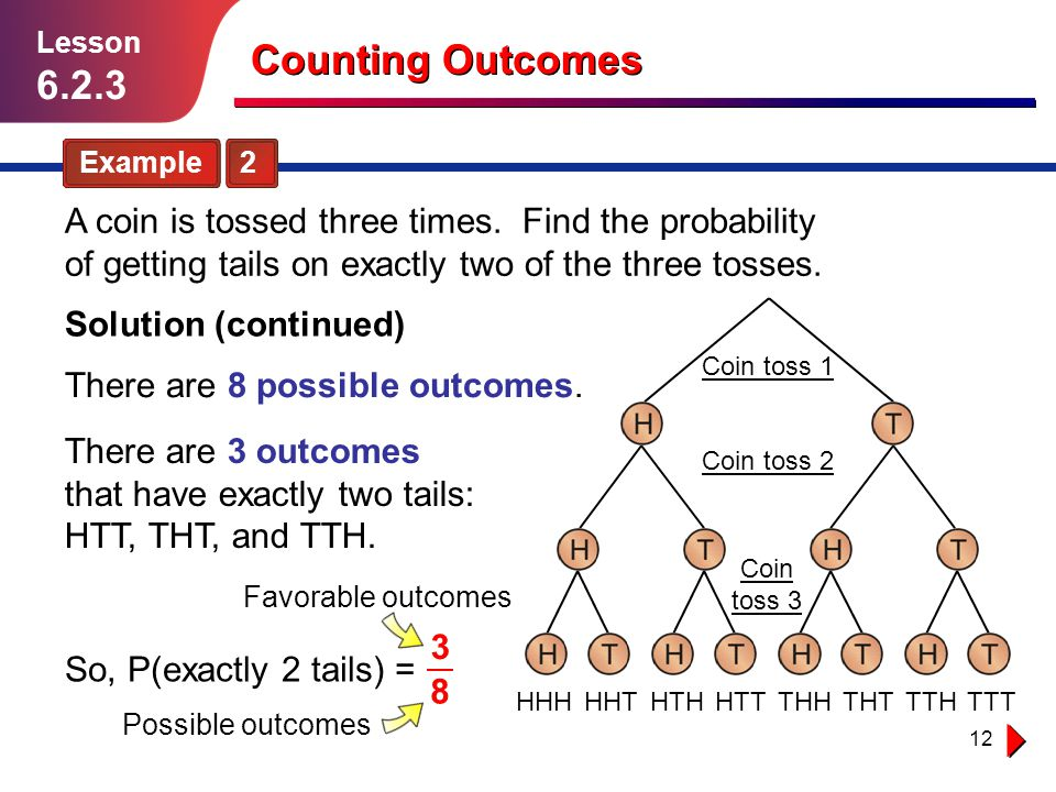 Lesson 6.2.3. Counting Outcomes. Example 2.