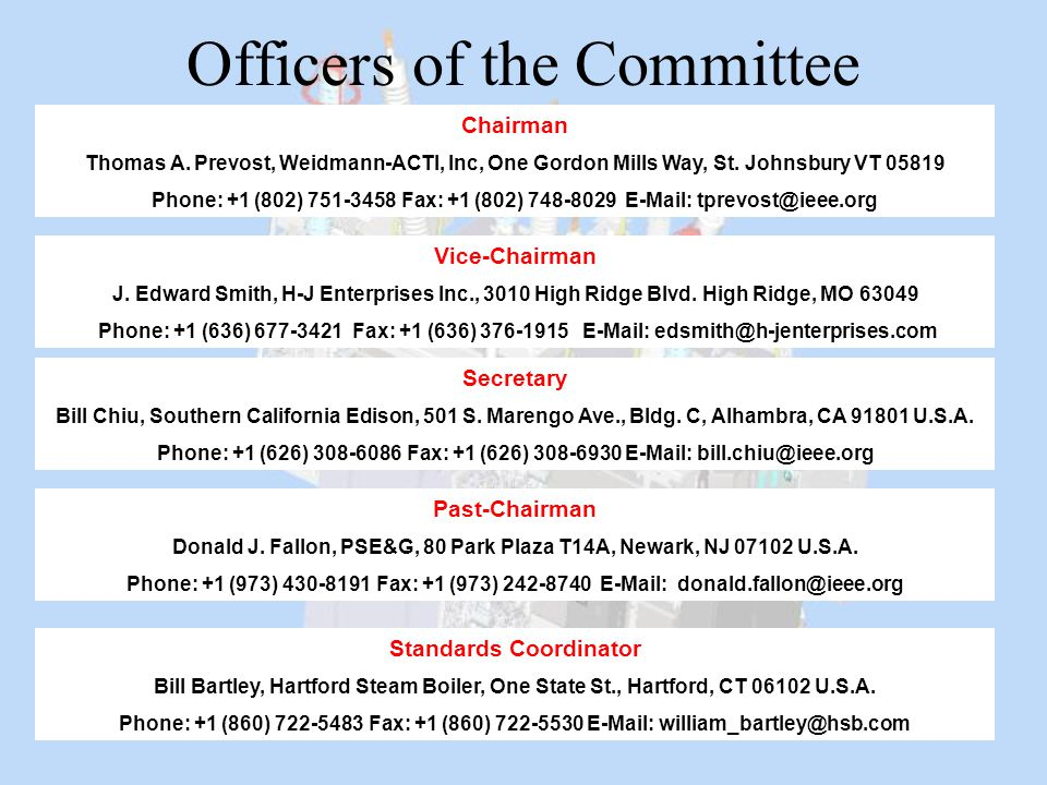 Officers of the Committee