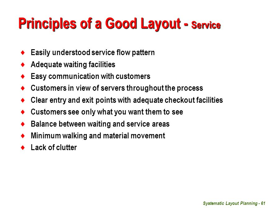 Principles of a Good Layout - Service