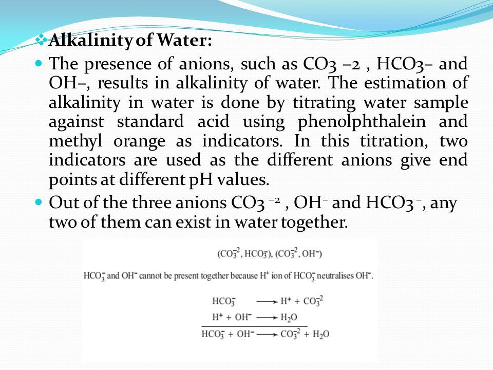 Alkalinity of Water: