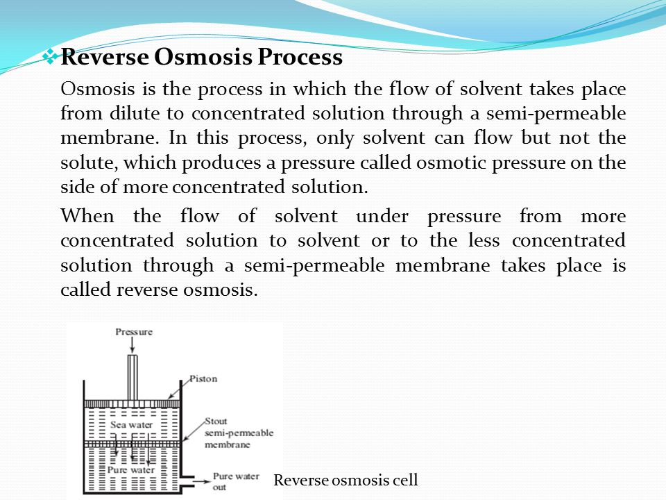 Reverse Osmosis Process