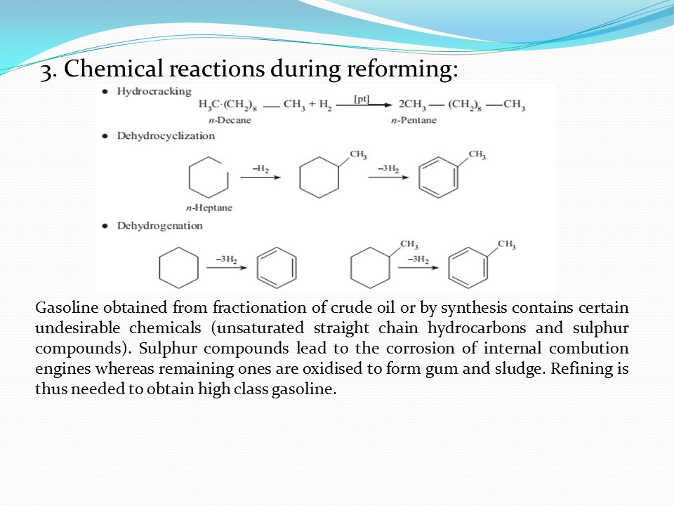 3. Chemical reactions during reforming: