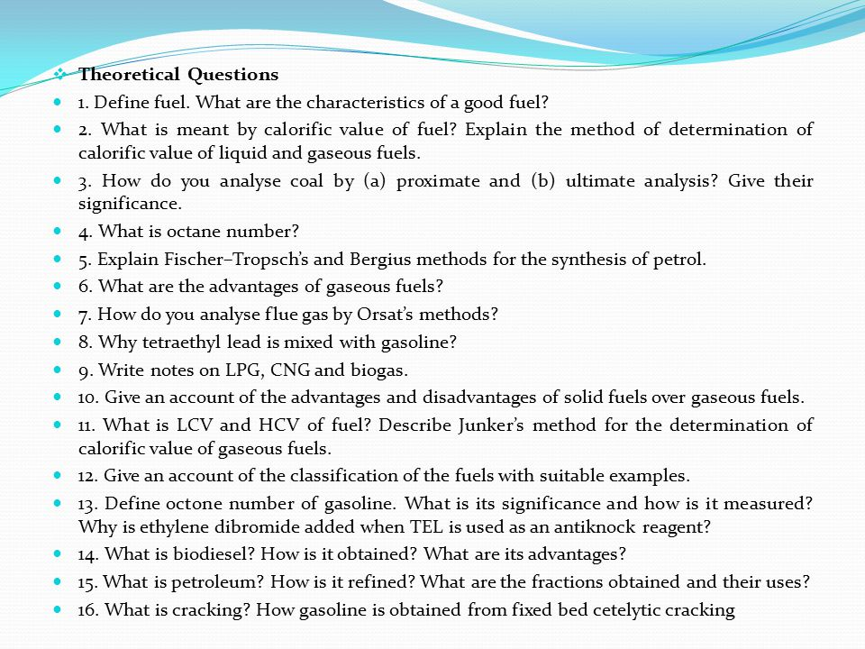 Theoretical Questions