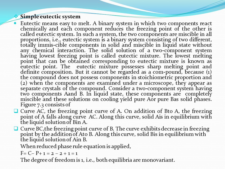Simple eutectic system