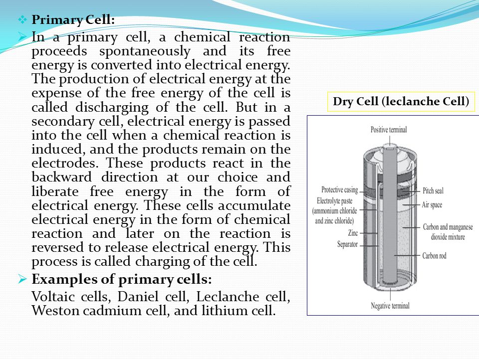 Dry Cell (leclanche Cell)