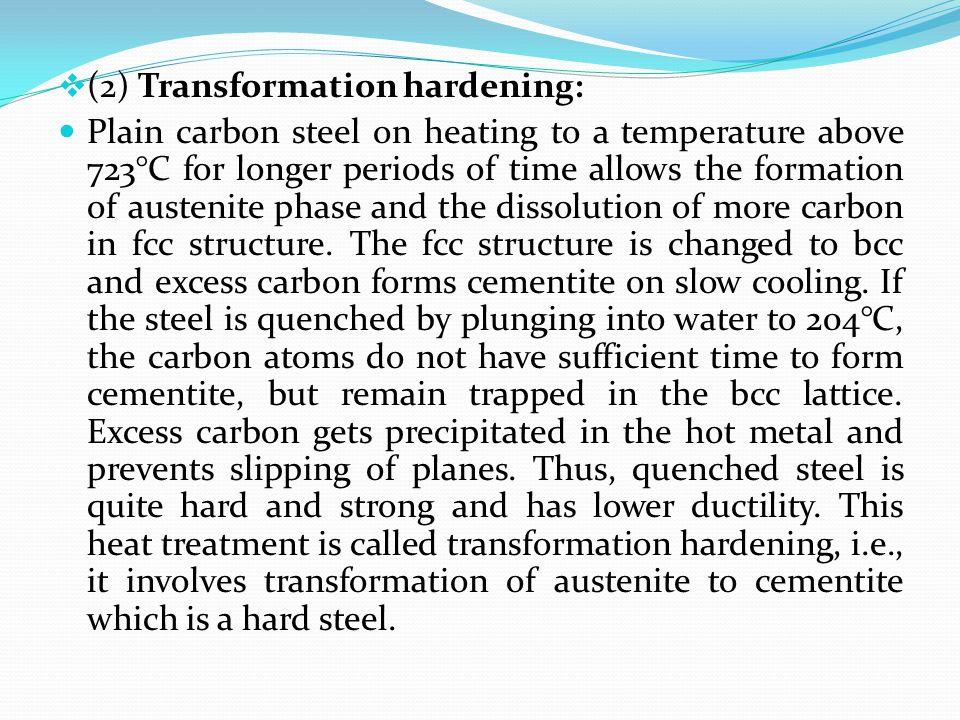(2) Transformation hardening: