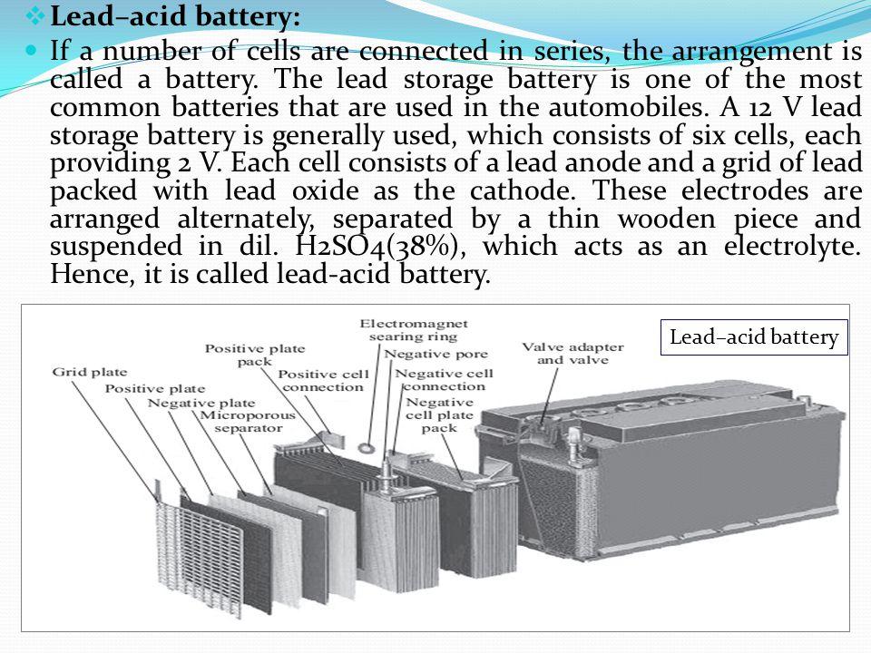 Lead–acid battery: