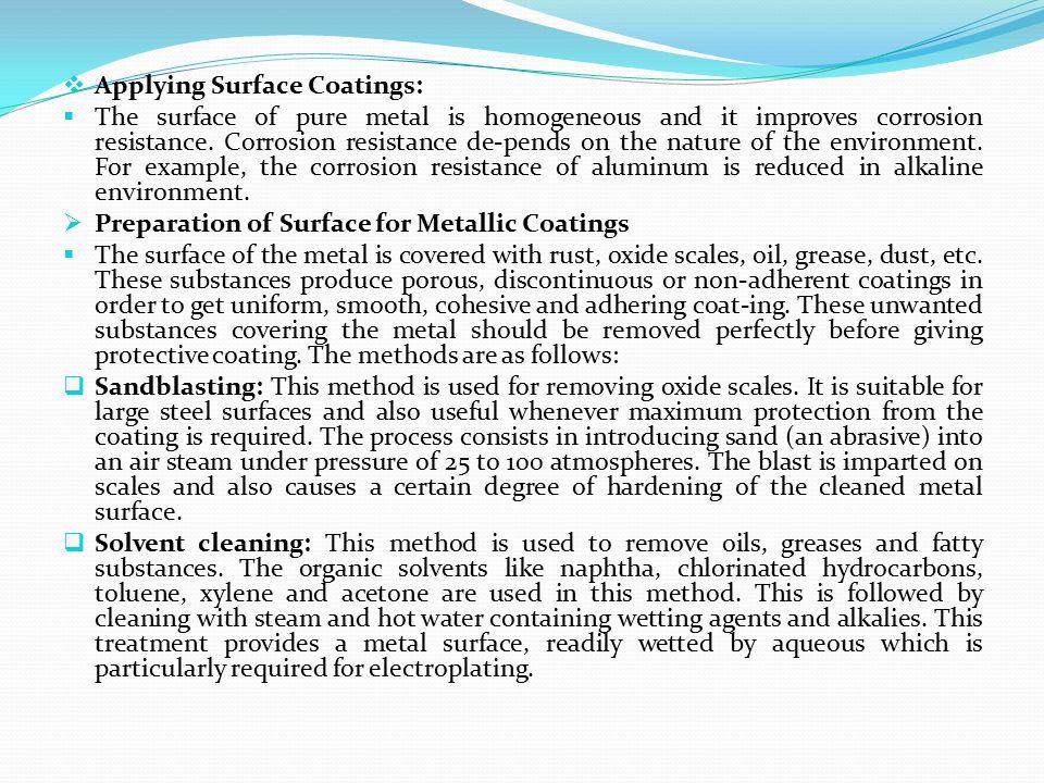 Applying Surface Coatings: