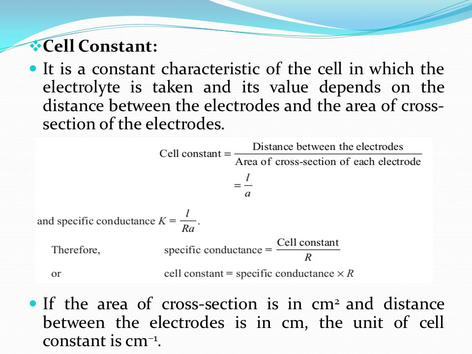 Cell Constant: