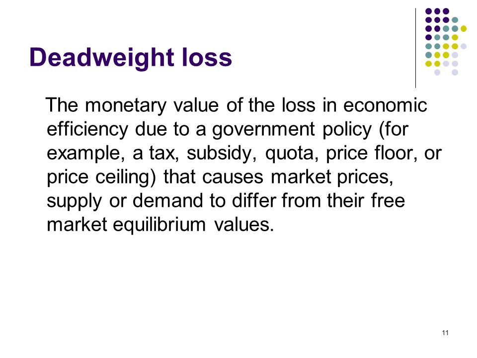 deadweight loss government subsidy