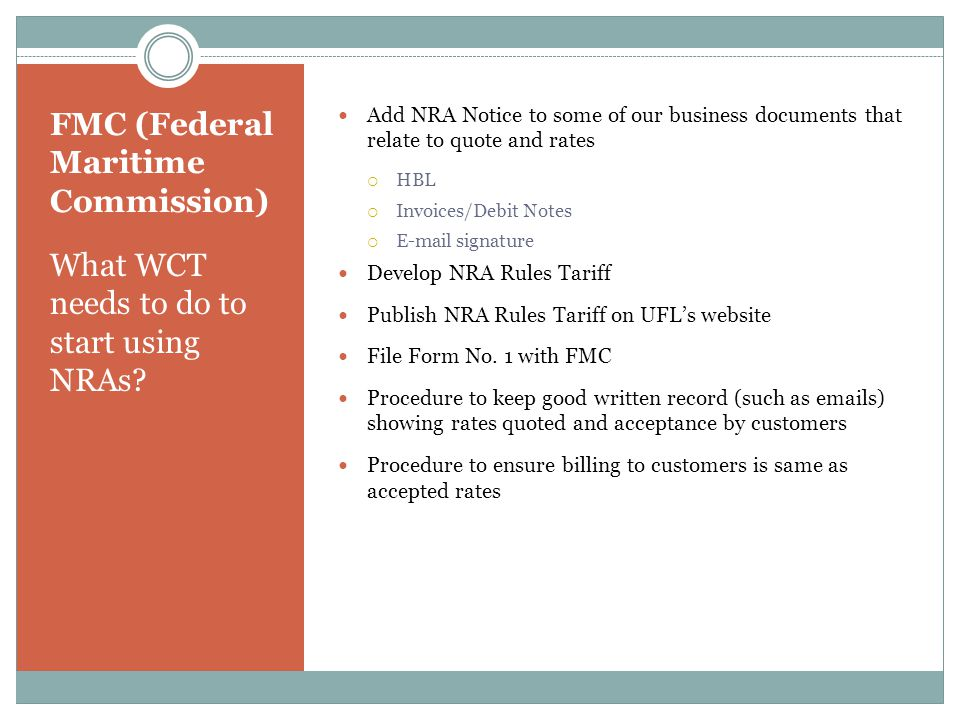 FMC (Federal Maritime Commission)