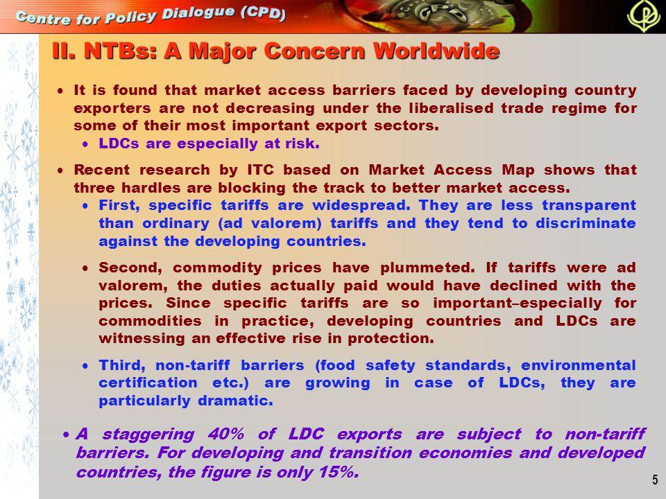 II. NTBs: A Major Concern Worldwide