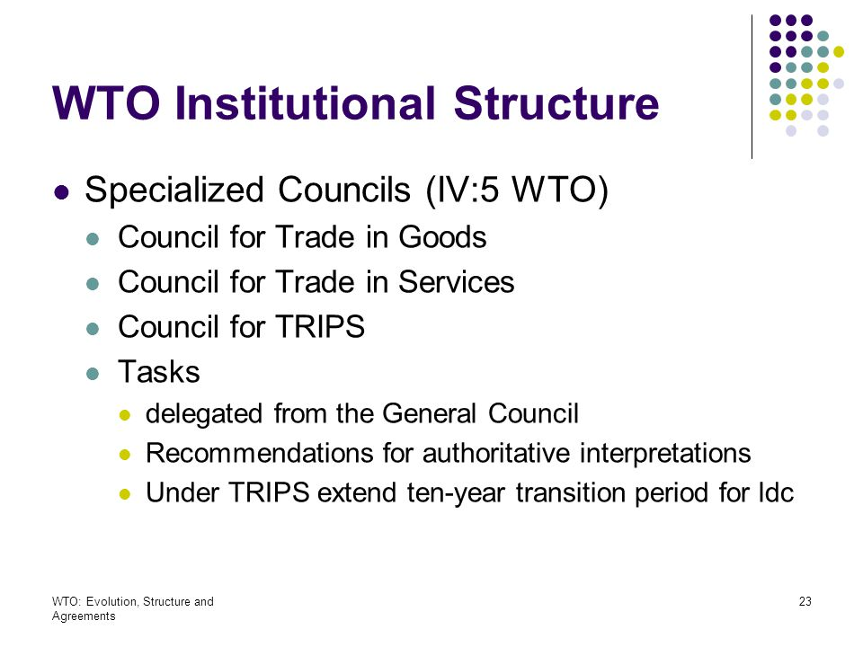 WTO Institutional Structure