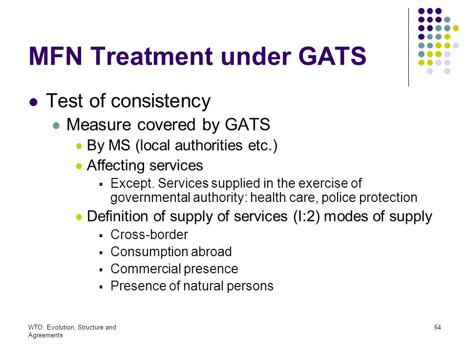 MFN Treatment under GATS
